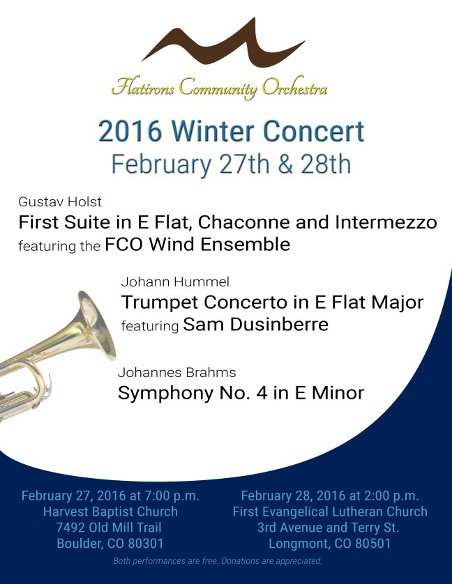 FCO 2016 winter concert Feb 27th and 28th
