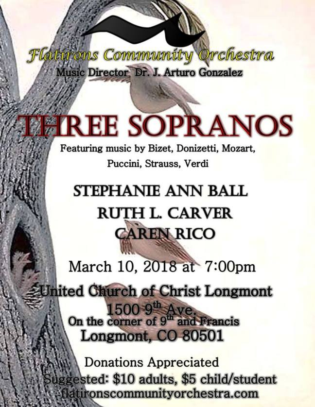 three sopranos concert flier