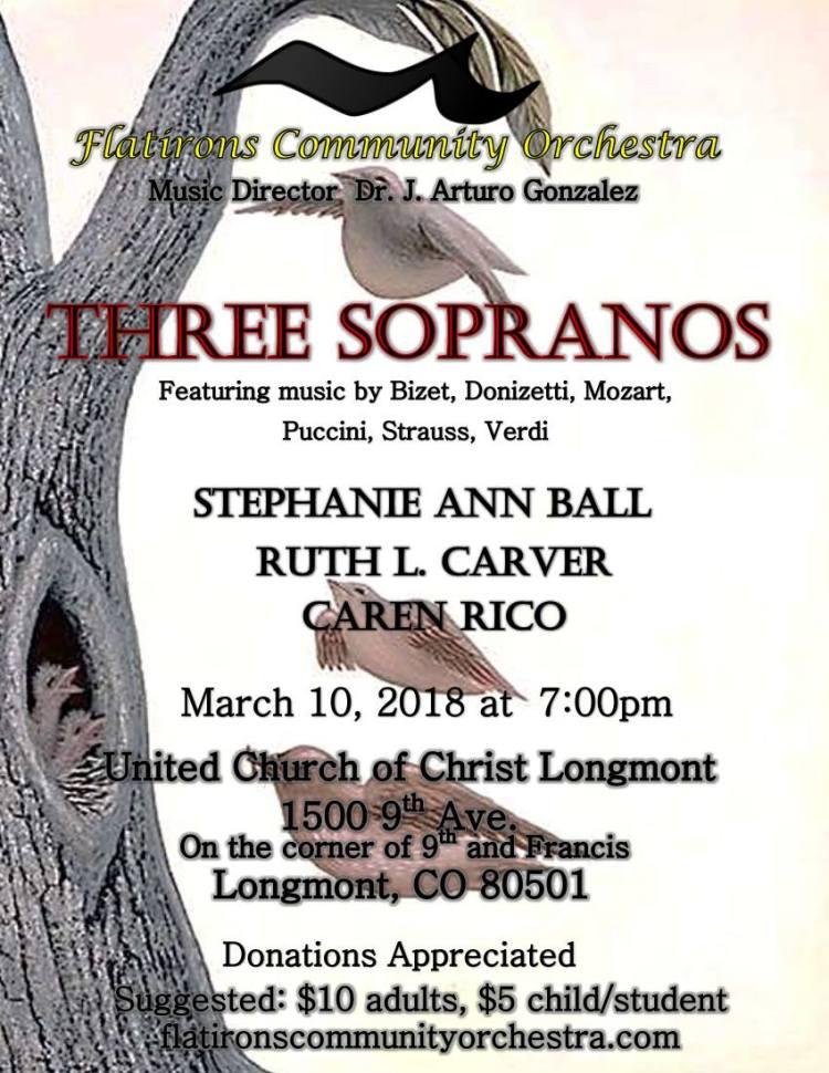three sopranos concert flier