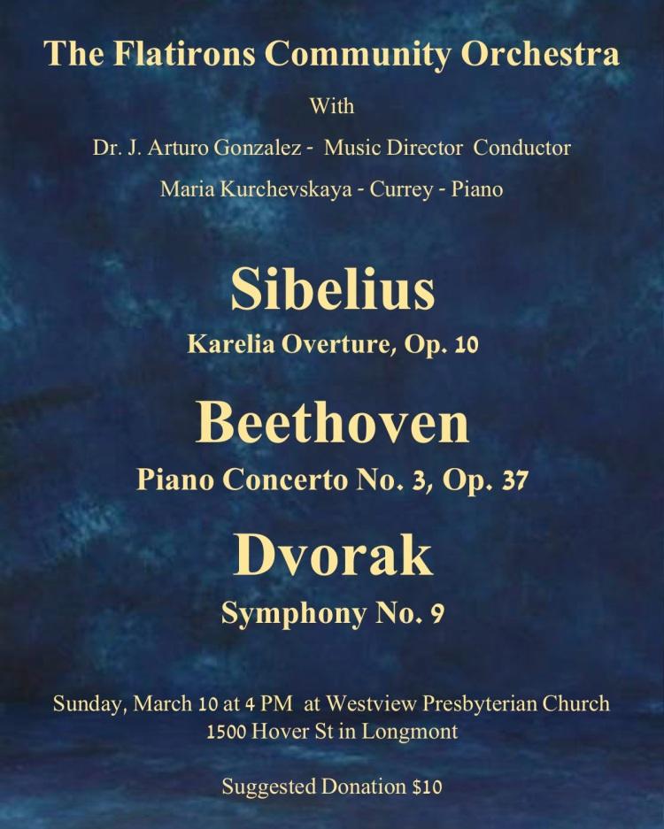 Concert Flier for March 10, 2019